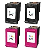 Hp 300, 2 black & 2 colour, 4 pack, compatible ink cartridges, These 4 cartridges are for the following deskjet printers Deskjet D1660 D2560 D2660 D5560 F2420 F2423 F2430 F2476 F2480 F2483 F2488 F2492 F2493 F4210 F4272 F2492 F4280 F4580 F4224 Photosmart C4610 C4635 C4640 C4650 C4670 C4673 C4680 C4683 C4685 C4688 C4740 C4780 C4783 C4785 C4788 C4793 C4795 C4798 C4799