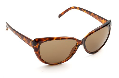 Zoom Boulevard Cat Eye-Style Plastic Frame Sunglasses, Retro Tortoise Frame/Brown Lens