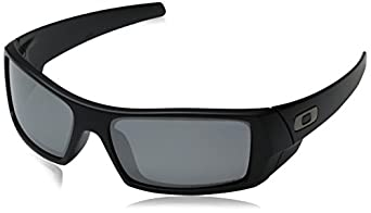 Oakley Mens GasCan Sunglasses 12-856, Matte Black Frame/Black Polarized Iridium Lens