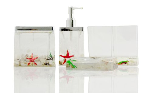 Tropical Ocean Sea Shell Vanity 5 pcs Bathroom Accessory Set - for All Saints' Day