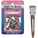 Soft 'N Style Single Prong Pin Curl Hair Clips, 12 Pack