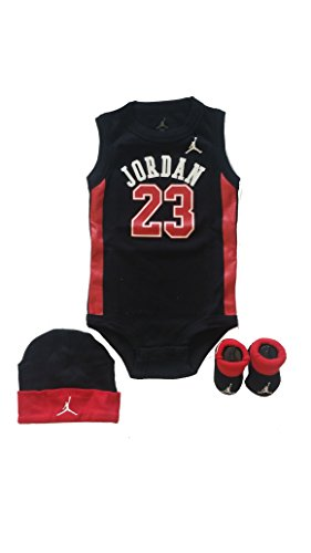 Jordan 3 Piece Infant Set (Black)