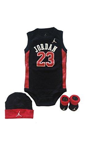 Jordan 3 Piece Infant Set (Black)