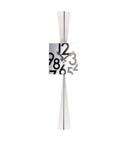 Stainless Steel Square Pendulum Wall Clock, 28.5