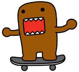 "Amazon.com: Domo Japanese Animation Cartoon Patch - 3"" Skateboard"
