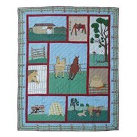 """Horse Quilt King 105""""x 95"""" QKHORS by Patch Magic"""