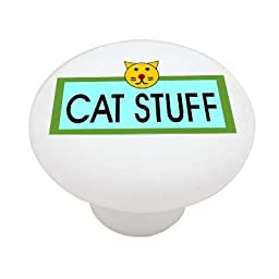 Cat Stuff High Gloss Ceramic Drawer Knob