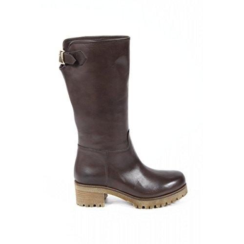 stivali alti donna versace 19.69 abbigliamento sportivo milano ladies boots b1567 silk t.moro -- 40 it - 10 us