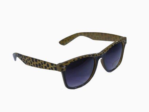 Sonnenbrille im 'Wayfarer Style' mit Tiermuster * zweifarbiger Rahmen * Bügel im Animal Look, Fb.:braun
