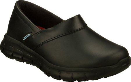 Skechers for Work Women's Relaxed Fit Slip Resistant Work Shoe,Black,8.5 M US