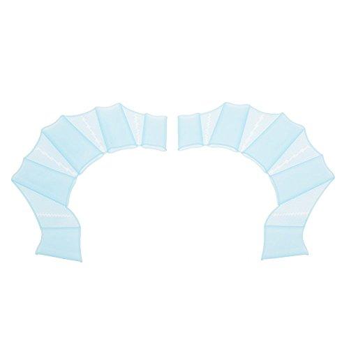 Docooler Ein Paar Schwimmflossen Getriebe Silikon Hand Flippers Unisex Vernetzt Handschuhe für Schwimmtraining S / M / L Größe