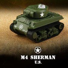 Miniature Infra-Red Control Interactive M4 Sherman Battle Tanks