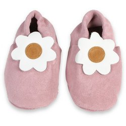 Cheap Papush Baby Shoes: Pink with Flower – Small (3-6 Months) (S6B)