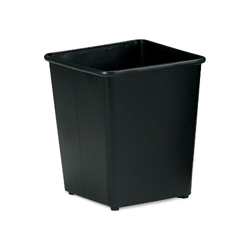 Safco Products 9612BL Square Wastebasket, 31 Qt. (Qty. 3), Black