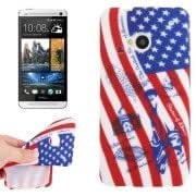 USA Flag Pattern TPU Case for HTC One / M7