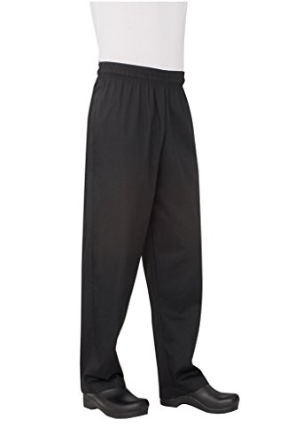 Chef Works Men's Essential Baggy Chef Pant (NBBP) (Mens Black Chef Pants compare prices)