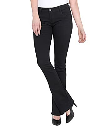 Bootcut Jeans (6,Black (boot cut with gem))