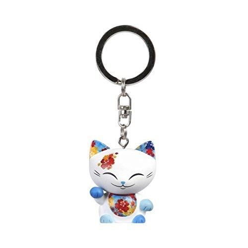 porte-cle-chat-porte-bonheur-mani-the-lucky-cat-blanc-collier-rouge