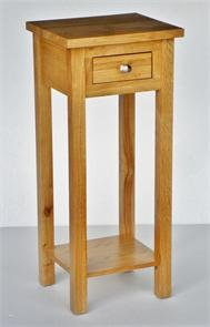 New Solid Oak Compact Tall Slim Small Telephone Phone