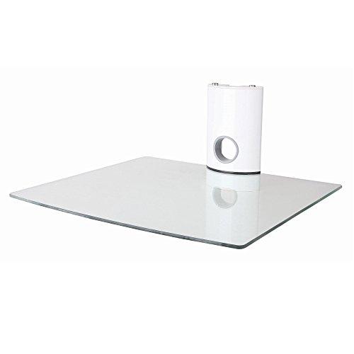NEG-Multimedia-TV-Rack-SUSPENDER-501W-wei-mit-Glas-Ablage-extra-gro-bis-15kg-belastbar-und-Kabelmanagement-System