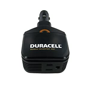 Duracell DRINVM100 100W Mobile Inverter with 2.1 Amp USB Port to Charge iPads and Other Power Hungry USB Products