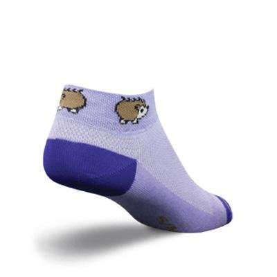 SockGuy Women's 1in Porcupine Cycling/Running Socks (Porcupine - S/M)