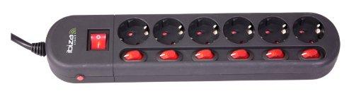 ibiza 15 1172 presa elettrica multipla ciabatta 6 canali. Black Bedroom Furniture Sets. Home Design Ideas