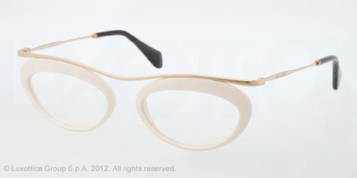 Miu MiuMIU MIU Eyeglasses MU 56MV 7S31O1 Ivory 49MM