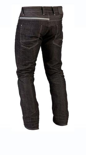 Juicy-Trendz-Uomo-Motociclo-Biker-Jeans-Con-Protettivo-Fodera-Nero