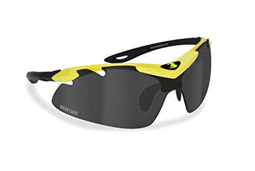 Occhiali per Ciclismo Running MTB Sci con lenti intercambiabili Antifog - naso regolabile by Bertoni AF900Y