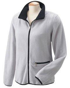 Chestnut Hill Ladies Microfleece Full Zip Jacket - Silver Grey