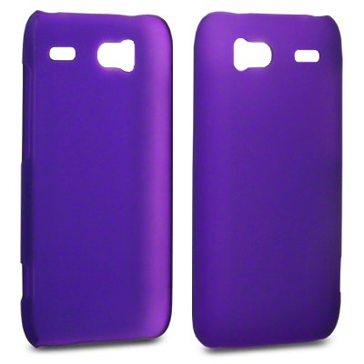 PURPLE HTC SENSATION THIN RUBBER-HARD BACK COVER – CASE – SHELL – SKIN