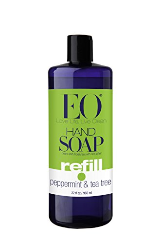 EO Botanical Liquid Hand Soap Refill, Peppermint & Tea Tree, 32 Ounce (Natural Antibacterial Soap compare prices)
