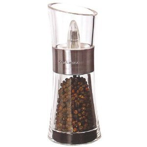 Cole and Mason H581710 Inverta Flip Acrylic and Brushed-Chrome Pepper Mill