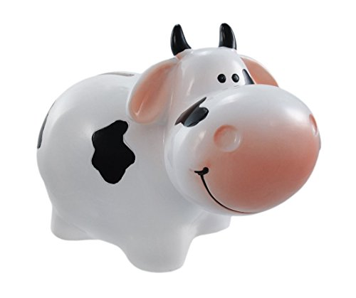 Holstein Dairy Cow Piggy Bank Milk Coin Small - 1