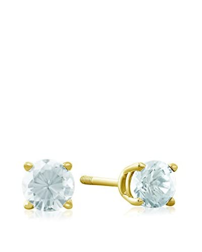 Adoriana 14K Gold Aquamarine Stud Earrings