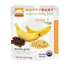 Happy Baby Happybaby Pouch Mama Grain Organic Baby Food For Grab And Go Meals 4 Oz