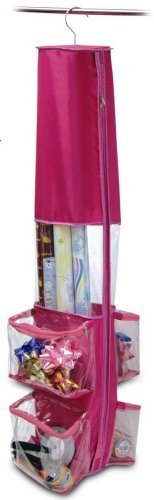 Gift Wrap Storage Bag Fushia (Gift Wrap Storage Vertical compare prices)