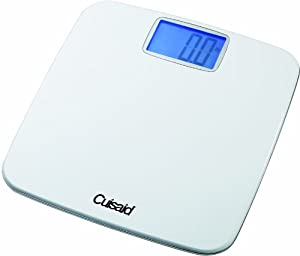 "Cuisaid ProDigital AccuWeigh Bath Scale with 3.5"" Super Extra Large Backlit Display,Step N' See Technology"