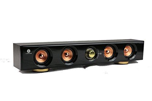 LIMONE®Haut-parleur stéréo à 2.0 double voie, mur aux echos puissant et vif, effet de son stéréo de 6W, haut-parleur de musique de cinéma à domicile