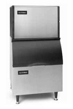 Ice-O-Matic ICE0250HA-B40PS 336 lb 30 Air-Cooled Half Cube Ice Machine w// Storage Bin