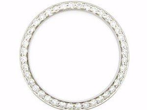 Mens 2ct Bead Set Diamond Bezel 14kw for Rolex Watches