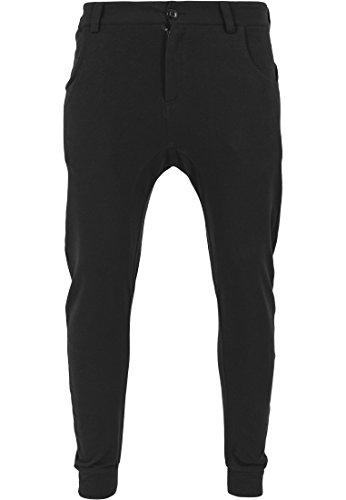 Urban Classics - Hose Curved Sweatpants, Pantaloni sportivi Uomo, Nero (Schwarz), Medium (Taglia Produttore: Medium)