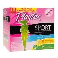 Playtex Sport Tampons Unscented, Fresh Balance Multipack, Regular & Super Pack of 2