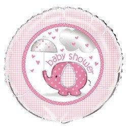 Umbrella Elephant Girl Baby Shower Foil Mylar Balloon (1ct)
