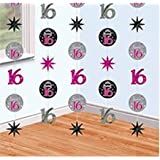 Sweet 16 - Foil String Party Decorations (16th Birthday)