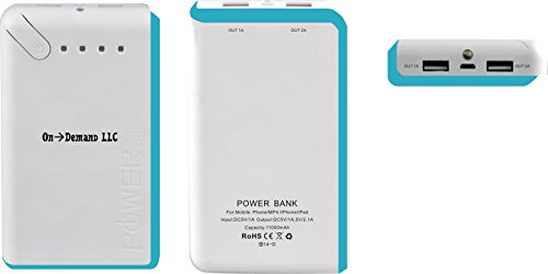 11000 Mah Portable Power Bank By On Demand Llc- High Capacity Universal Mobile External Battery Charger - Use Original Usb Cord - Smart Phone, Tablet, Camera, Ipad, Kindle Fire, Hand-Held - Apple/Samsung/Blackberry/Sony/Nokia