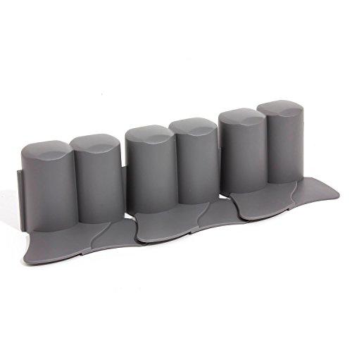 3 2 m palisade beetumrandung grau plast rasenbord. Black Bedroom Furniture Sets. Home Design Ideas