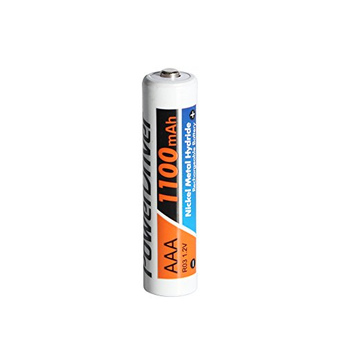 PowerDriver 16 Pack 1100mAh 1.2V Ni-MH Nimh Pre-charged Rechargeable AAA Batteries for Toys