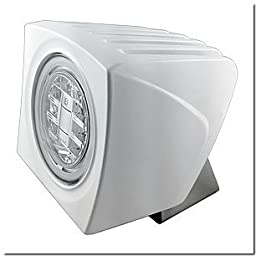 Lumitec 101252 Cayman Flood Light - White & Red Dimming - White Housing Car Accessories